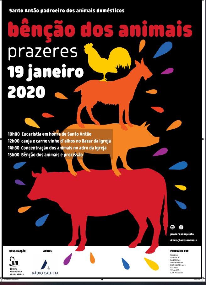 Tradicional Bênção dos Animais a 19 de Janeiro nos Prazeres